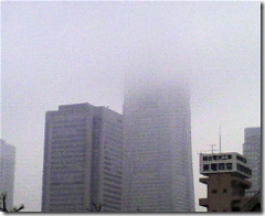 今朝のランドマークタワー